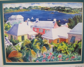 PAIR of 'Bermuda' watercolor prints