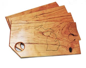 Wine and Cheese Board - Michigan - Set of 4 Boards