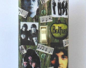 Beatles single Switchplates & MATCHING SCREWS- Beatle switchplate Beatle posters Beatle wall art decor Beatles collectible posters Revolver