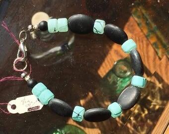 Beautiful stone and bead bracelet