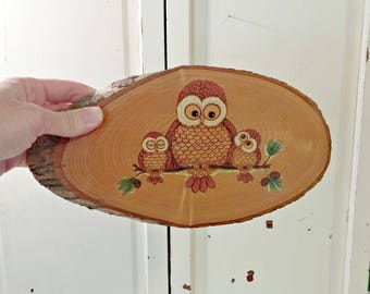 Vintage Owll Wall Hanging