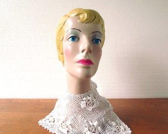 20% off sale Vintage Crochet Collar | 1920s Dress Collar | Crochet Bib