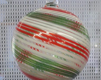 Handblown Glass Ornament by Tazza Glass