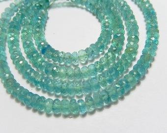Green Fluorite Gemstone Bead. Faceted  Semi Precious Gemstone Rondelle,  5mm. Your Choice (06flu)