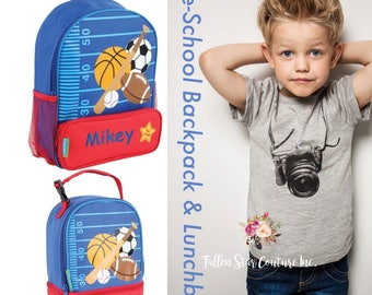 Sports Backpack / personalized toddler backpack / preschool backpack / toddler backpack / lunchbox SIDEKICK
