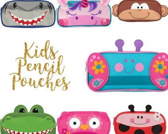 Kids pencil pouch , school pencil case , personalized pencil holder , stephen personalized kids bag