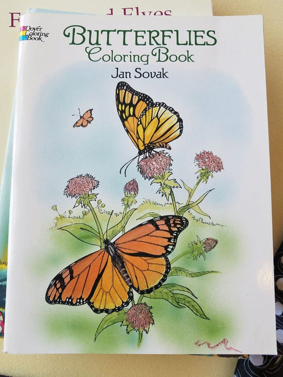 butterfly flowers coloring book bugs butterflies insects coloring book vintage coloring books 1992