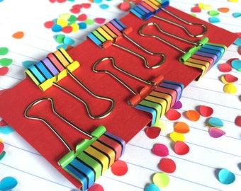 Mini Groovy Doodle Clips (Rainbow)