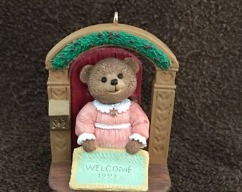 1993--Hallmark--Tender Touches--Keepsake Ornament Premiere--Signed--You're Always Welcome