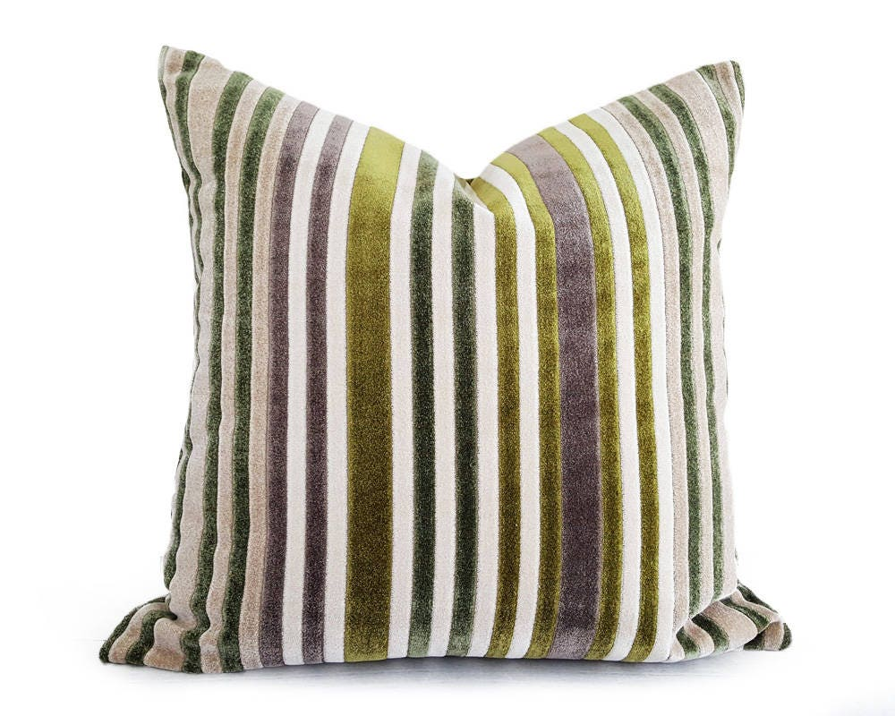 Cream Decorative Pillow Covers : Cream Green Pillow Covers Textured Throw Pillows Mauve