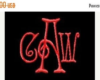 SALE 65% OFF Elegant Three 3 letter Machine Embroidery Monogram Fonts Designs Instant Download Sale