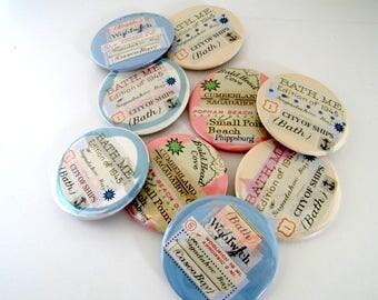 """Bath Maine 2.25"""" pins - Woolwich - Phippsburg - Popham Beach -"""