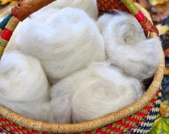 4 oz BFL Rustic Spinners Batts Wool // Blue Faced Leicester Batt // Wool Carded Batt for spinning or felting