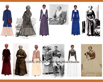 Harriet Tubman Paper Doll