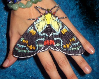 Joseph's coat moth butterfly Agarista agricola Iron on or Sew on Patch