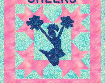 The Cheerleader Wallhanging Quilt PDF Pattern by MadCreekDesigns