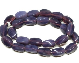 Vintage Opalescent Purple Glass Beads