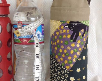 Insulated Tote for 32 - 33.8 oz. (Liter/quart) size containers patchwork cats