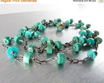 25 OFF Long Versatile Natural Turquoise Necklace/Bracelet