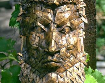 Sylvanus - origami portrait of a woodland king