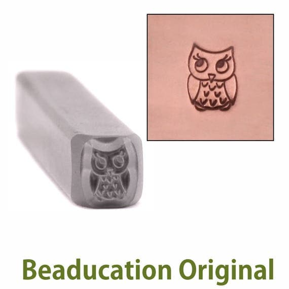 Baby Owl Metal Design Stamp 4mm wide by 5.5mm high - Beaducation Original