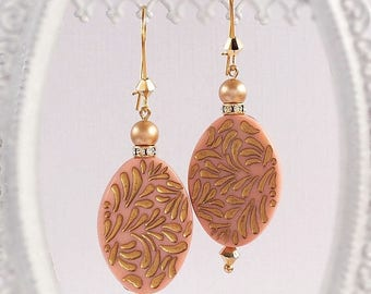 SALE 20% Off Boho Dangle Earrings - Pink - Bohemian Earrings - RETRO BOHO Pink