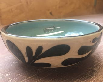 Leaf Turquoise Small Bowl