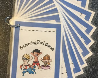 Swimming Pool Games- 10 Cards