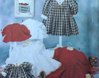 Girls Dress and Matching Doll Dress Pattern Oliver Goodin Heirloom  Simplicity 7036 Childs and Dolls Dresses Pattern  Girls Size  2-6x