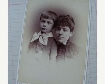 ONSALE Antique Mother and child Photo Cabinet Card