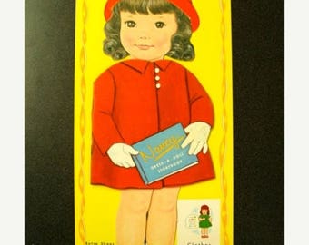 ONSALE Vintage Adorable Rare Original 39 Cent Paper Doll Story Book for Collage and Mixed media