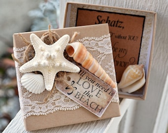 For Natalie only- Will You be My Bridesmaid Beach Theme Boxed Invite Starfish Box Invites