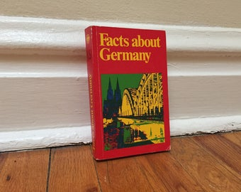 Germany Book 1972 Facts About Germany Vintage Book Red Paperback Travel Reference Library 1972