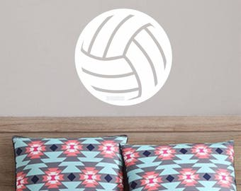 Volleyball Decal, Sports and Fitness, Athlete Sticker, Ball Wall Decal, Girls Volleyball, Bedroom Wall Decal, Gym, Car Window Vinyl Sticker