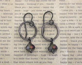 Vintaj Jewelry, Gray Jewelry, Industrial Jewelry, Boho Earrings, Black Jewelry, Bohemian Jewelry, Industrial Jewelry, Wrought Iron Jewelry