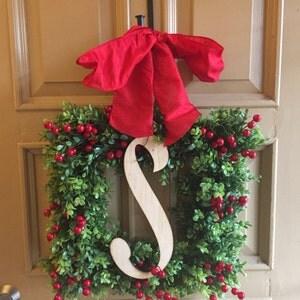 Christmas Boxwood Square Wreath Holiday Boxwood Wreath