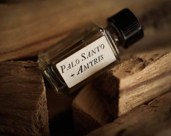 Palo Santo + Amyris™ - Strange Companion Blend™ - Natural Perfume Oil with sweet & spicy woods - Palo Santo Stick Perfume - Incense Perfume
