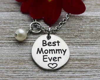 Best Mommy Ever Necklace, Fine Pewter