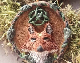 Celtic Fox Necklace, Celtic Necklace, Fox Jewelry, Celtic Jewelry, Gift for her