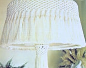 Hanging Lamp Vintage Macrame PDF Pattern 70s Home Decor Furnishing Reproduction e Pattern Instant Download