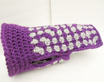 NEW ITEM Dog Sweater, Small Dog Clothing, Purple and Grey