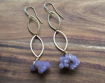 Grape Agate earrings