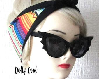 Mexican Blanket Print Rockabilly Hair Tie Head Scarf by Dolly Cool Serape Saltillo