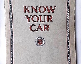 1927 Socony Know Your Car Booklet