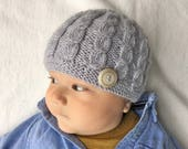 Baby Hat Knitting Pattern, Baby Beanie PDF Pattern, Knit Hat Pattern for Baby Boy, Baby Hat Pattern for Knitted Beanie HARPER