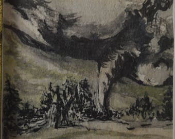 Miniature Art, Pencil Drawing, Tornado Drawing, Weather Drawing, Tornado Image, Tornado Alley, Twister Drawing, Storm Drawing,