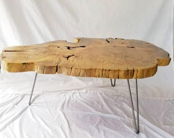Coffee Table -  Natural Edge Elm