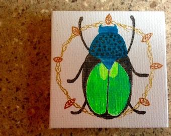 Mini Masterpiece - Green Beetle