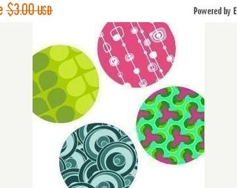 Weekly Sales Item - Abstract Geometric Patterns - One (1x1) Inch Round Images - Digital sheet-PDF-pendant images - Weekly Sale Promotion