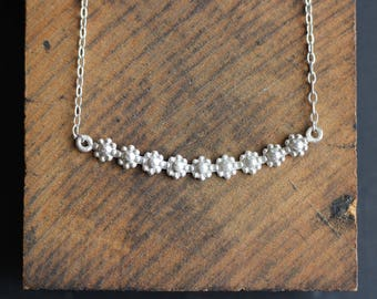 Sterling Flower Necklace- Free Shipping, silver necklace, sterling necklace, sterling silver